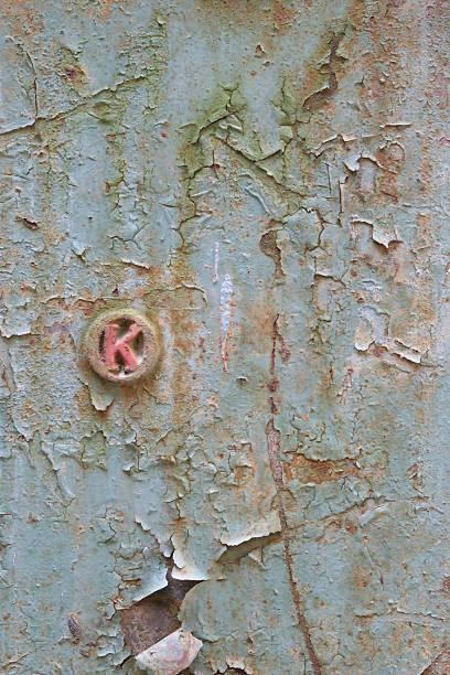 wheatered-metal-door2 stock photo