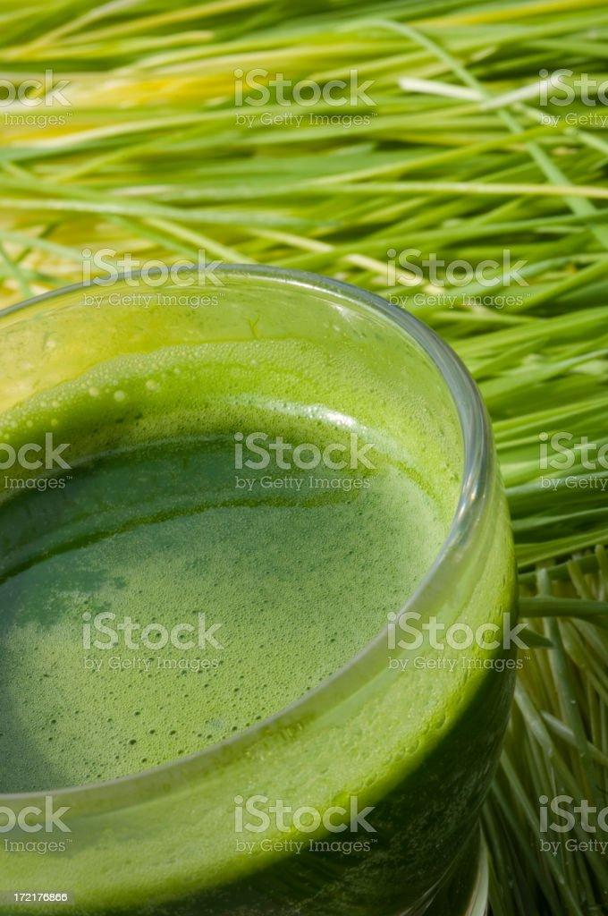 Wheatgrass Cocktail royalty-free stock photo