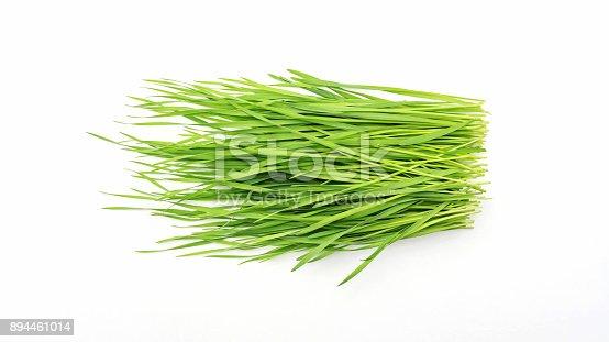 istock wheatgrass plant on a white background. 894461014