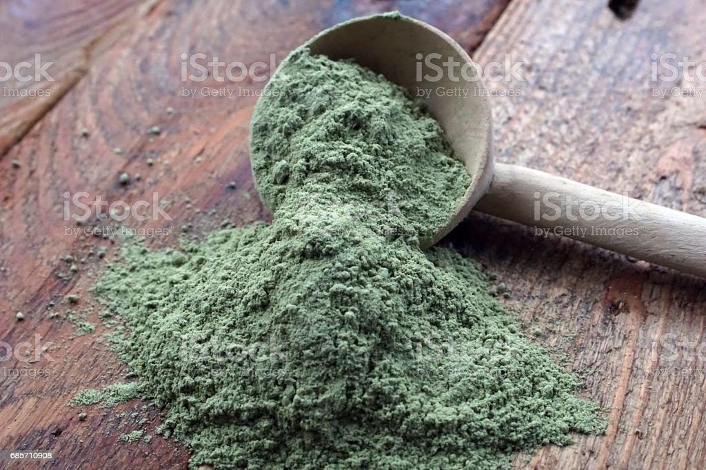 Wheatgrass Powder Organic royalty-free stock photo