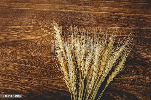 Wheats On Wood Board