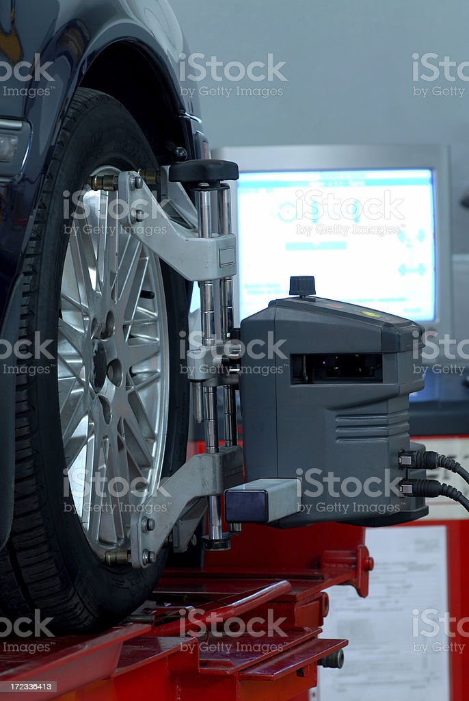 wheel alignment and balancing royalty-free stock photo
