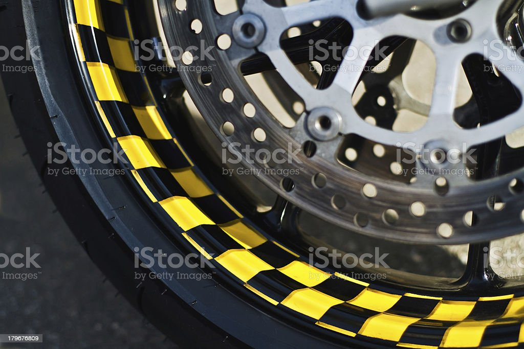 Wheel and brakes royalty-free stock photo