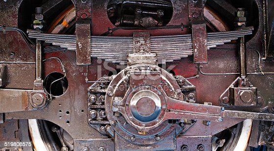 istock Wheel and spring of the old train 519808575
