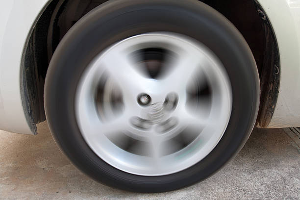 Wheel and Tire stock photo
