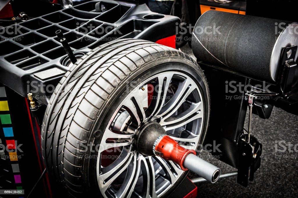 Wheel Balancing stock photo