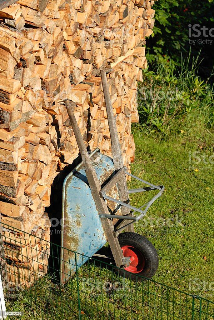 wheel barrow royalty-free stock photo
