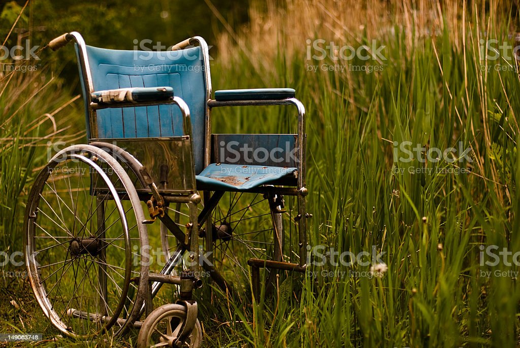 Wheel chair out of caracter 2 stock photo