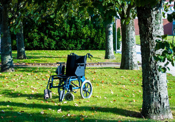 Wheel chair stock photo