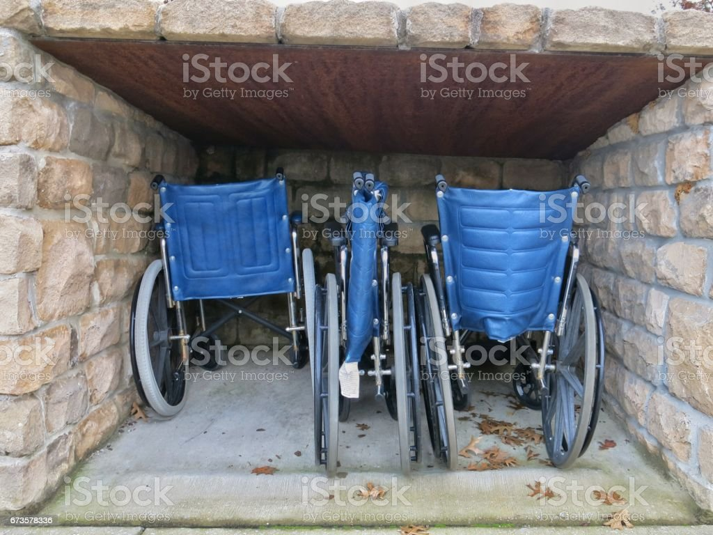Wheel Chair Storage for Visiting Disabled Handicapped