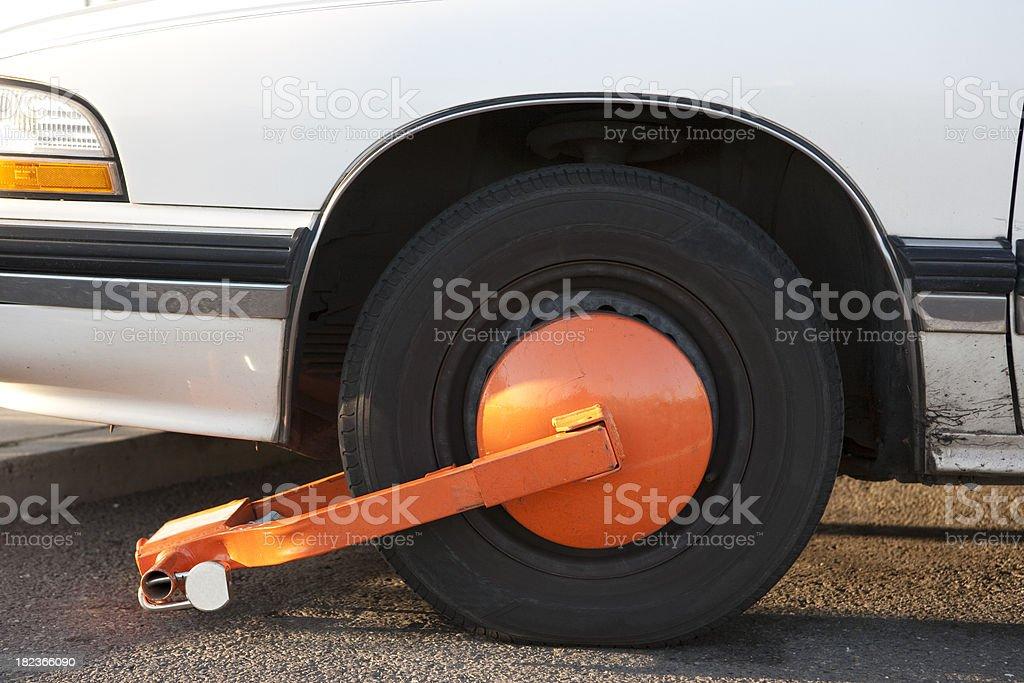 Wheel clamp 2 stock photo