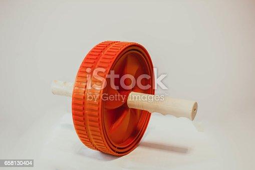 istock wheel for gymnastics on the floor 658130404