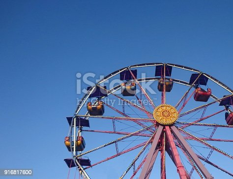 Wheel in amusement park
