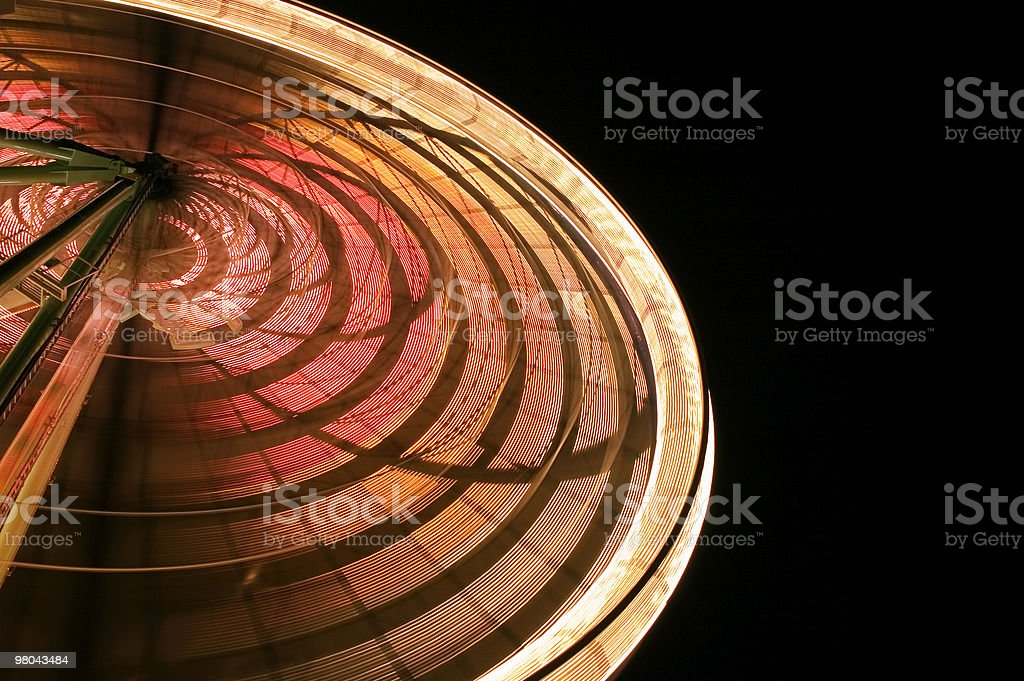 Wheel in the Night royalty-free stock photo