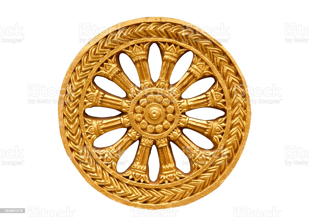 Wheel in the temple,. stock photo