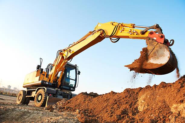 wheel loader excavator - excavator bildbanksfoton och bilder