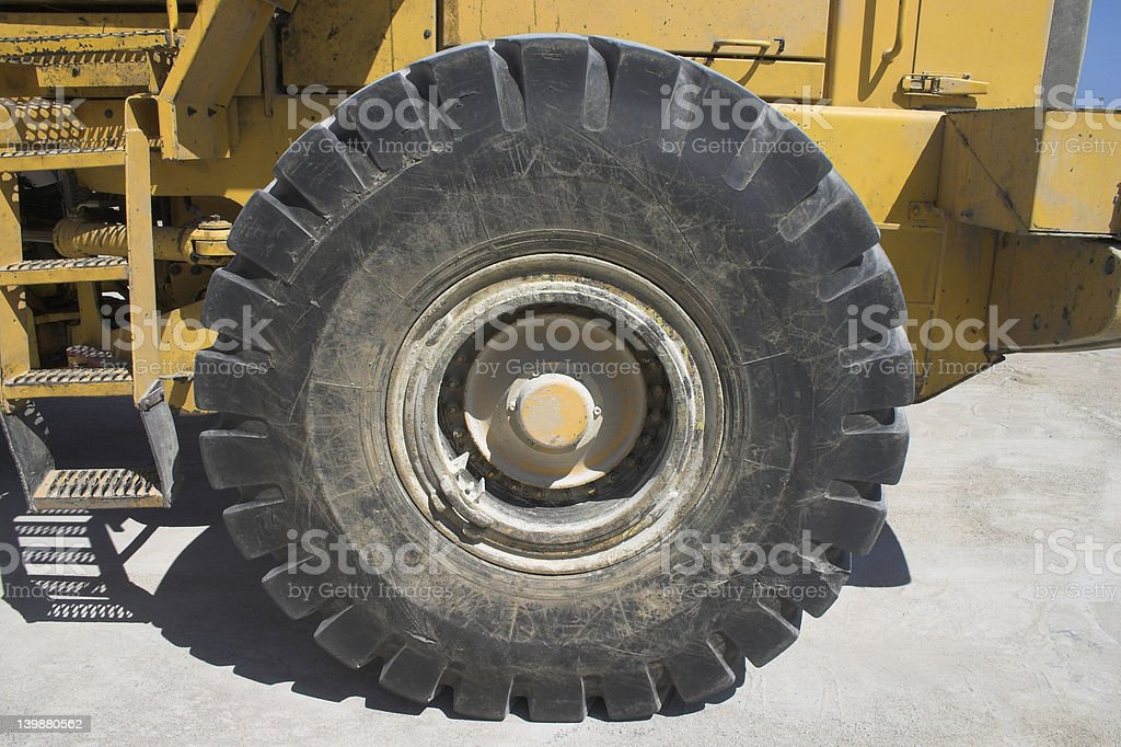 wheel of a Back Hoe royalty-free stock photo