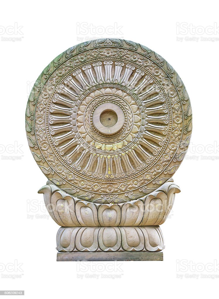 Wheel of Dhamma stock photo