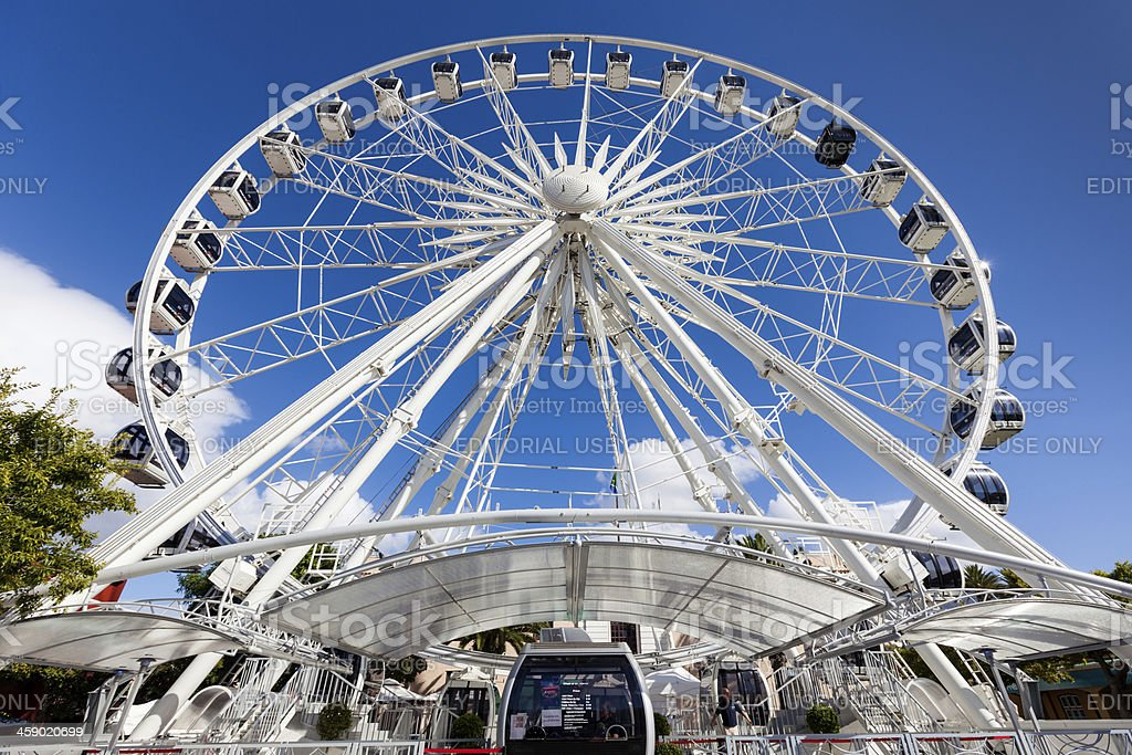 Wheel of Excellence Ferriswheel, Cape Town royalty-free stock photo