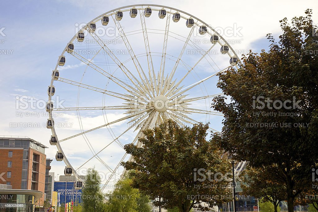 Wheel of Excellence in Liverpool royalty-free stock photo