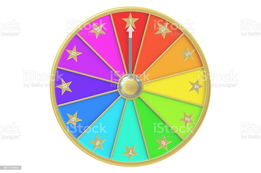wheel of fortune, 3D rendering stock photo