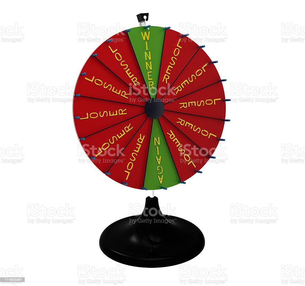 Wheel of fortune stock photo