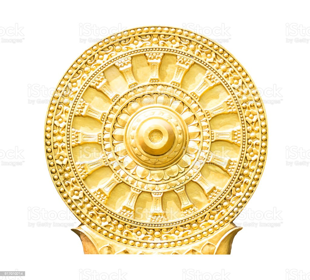 Wheel of life,Wheel of Dhamma stock photo