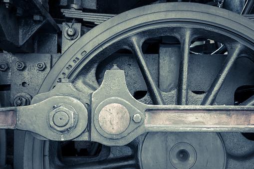 Wheel of old steam machine