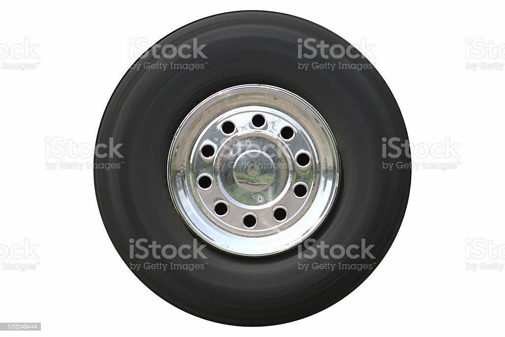 Wheel (isolated) royalty-free stock photo