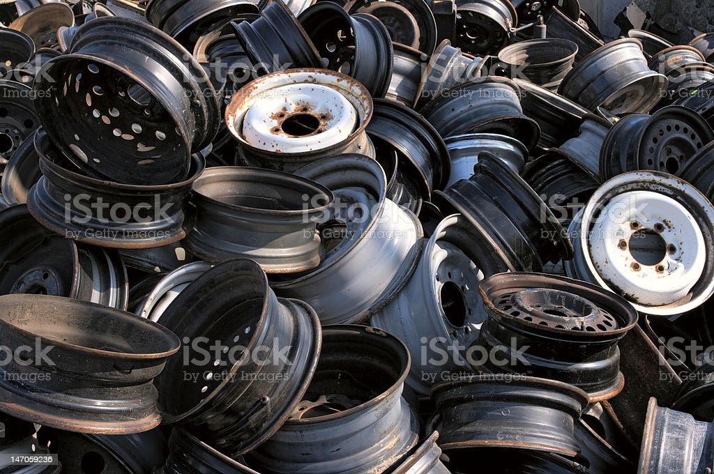 Wheel pile royalty-free stock photo