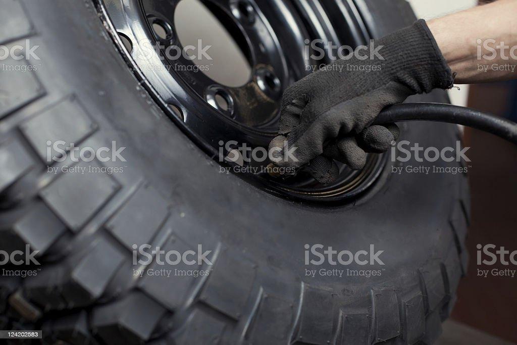 Wheel repair royalty-free stock photo