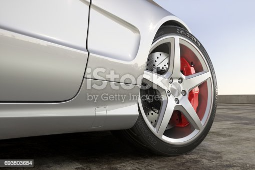 istock Wheel sports car close-up outdoor 693803684