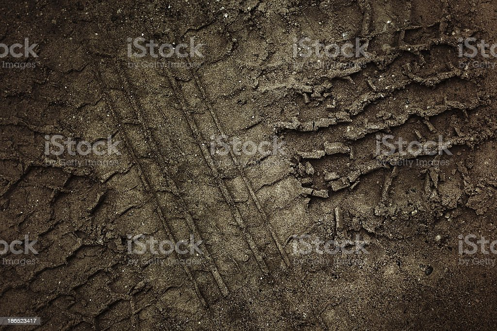 Wheel tracks royalty-free stock photo
