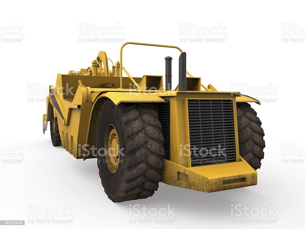 Wheel Tractor Scraper stock photo