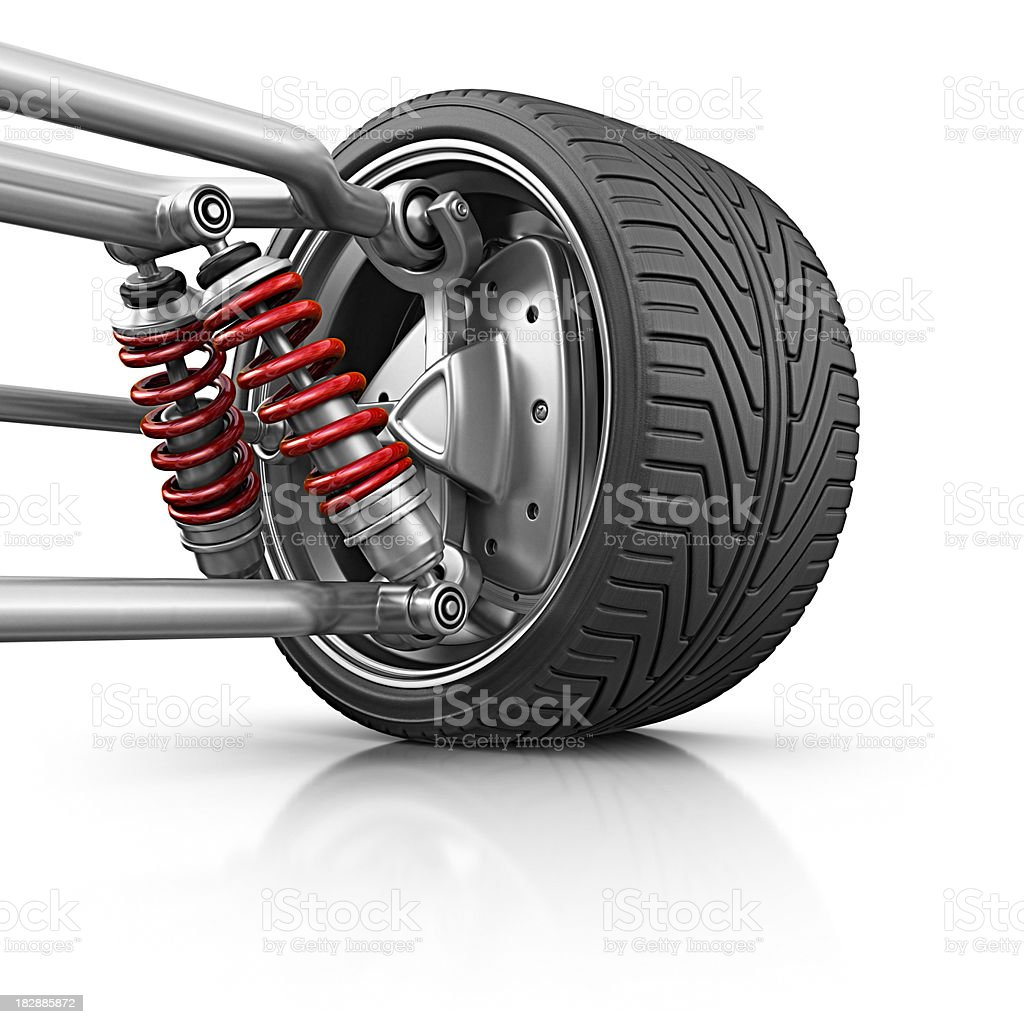 wheel with suspension stock photo