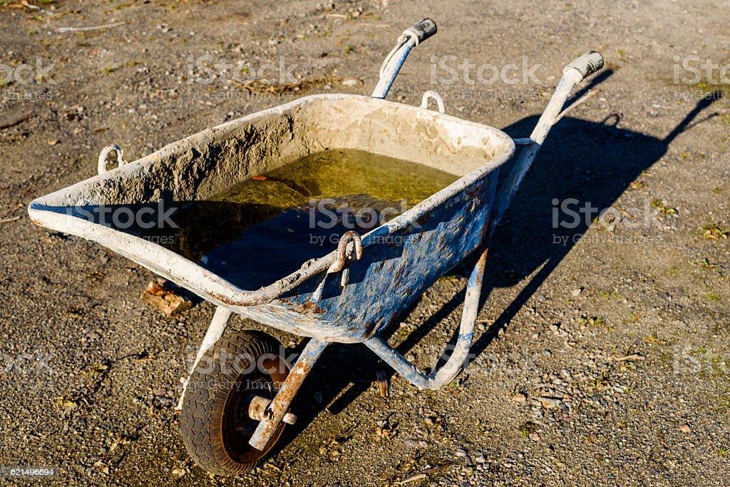 Wheelbarrow with water foto stock royalty-free