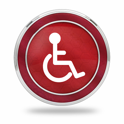 istock wheelchair accessibility button 1055445350