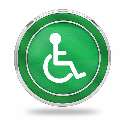 istock wheelchair accessibility button 1060809656