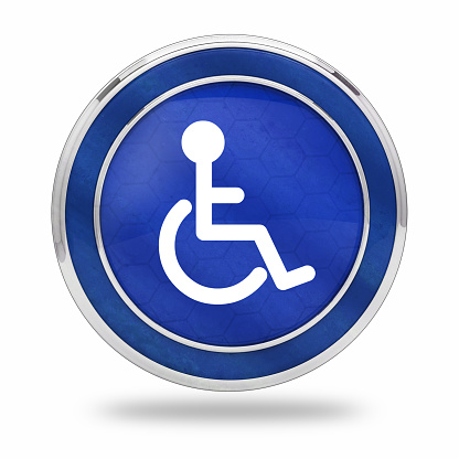 istock wheelchair accessibility button 990216146