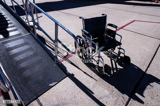 istock Wheelchair and slope. 877284722