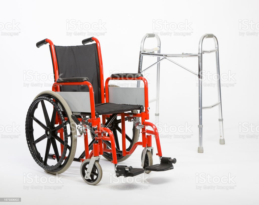 Wheelchair and Walker royalty-free stock photo