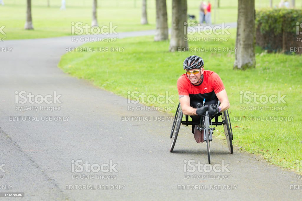 Wheelchair Athlete stock photo