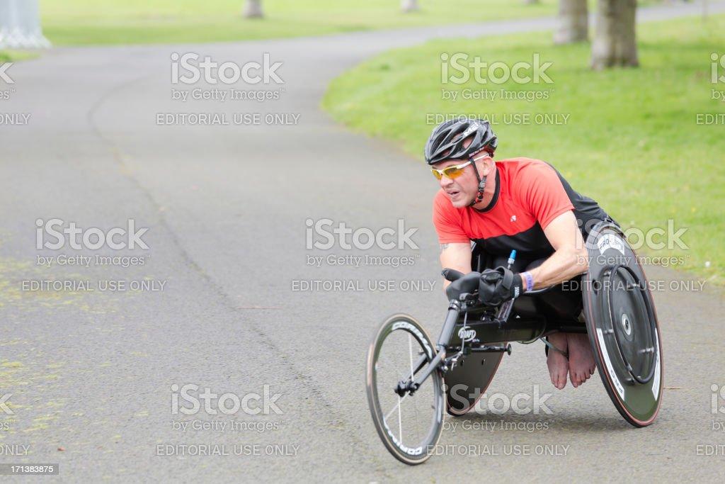 Wheelchair Athlete stock photo