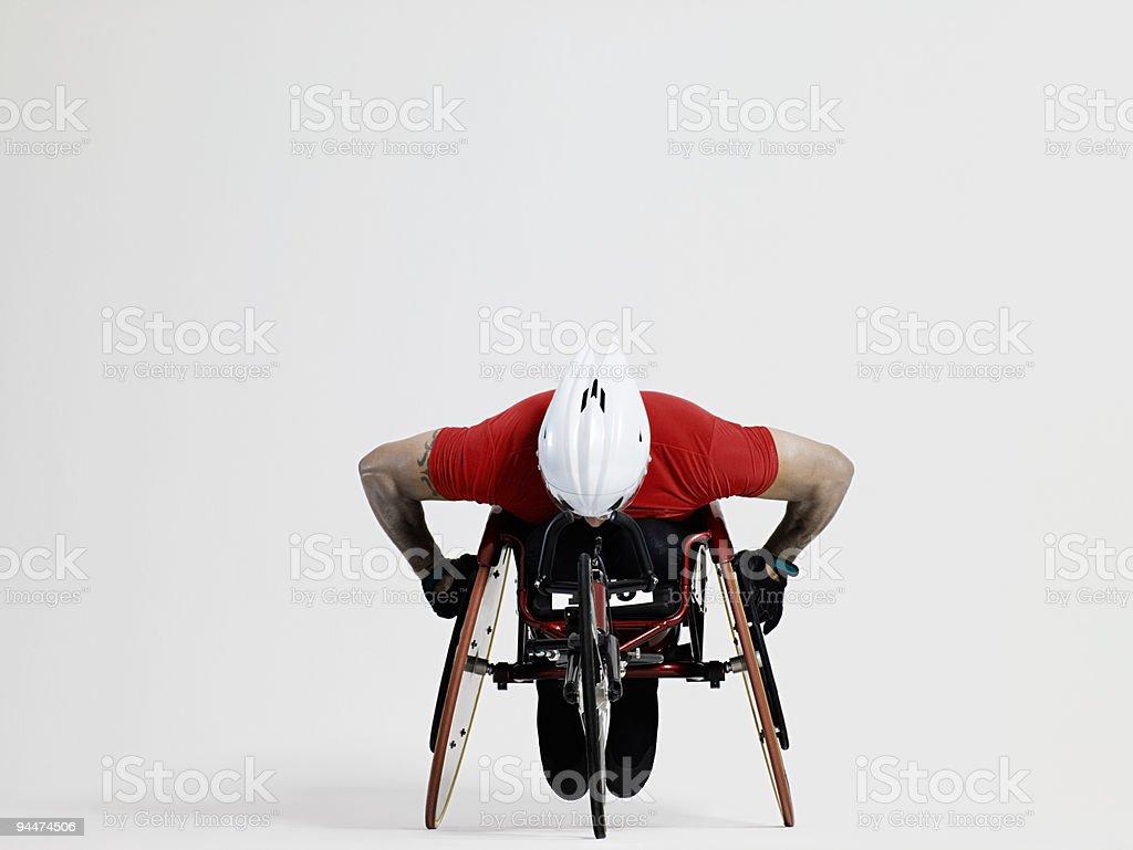 Atleta de ruedas - foto de stock