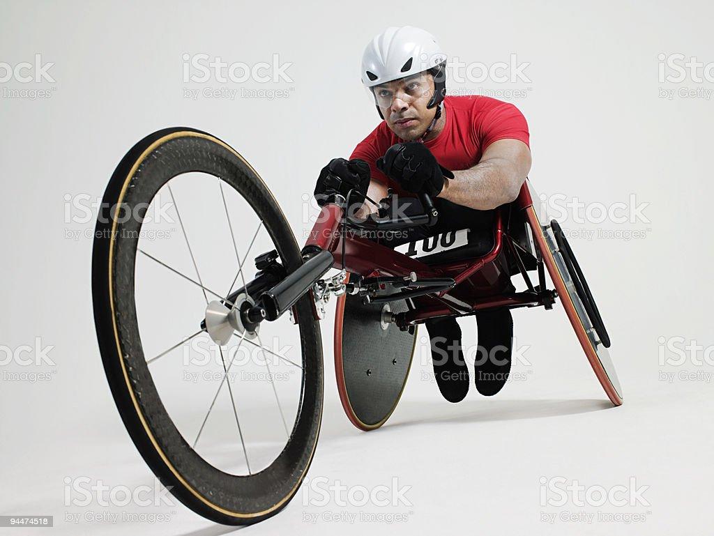 Atleta de cadeira de rodas - foto de acervo