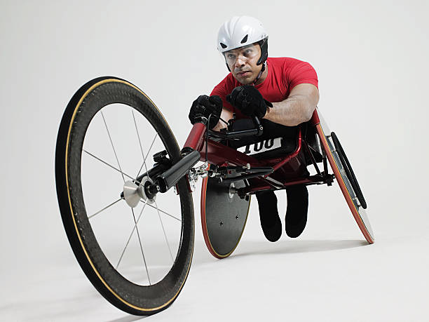 wheelchair athlete - wheelchair sports stock photos and pictures