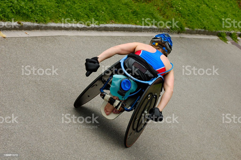 車椅子のアスリート ストックフォト