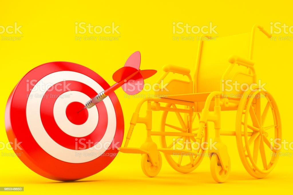 Wheelchair background with bull's eye royalty-free stock photo