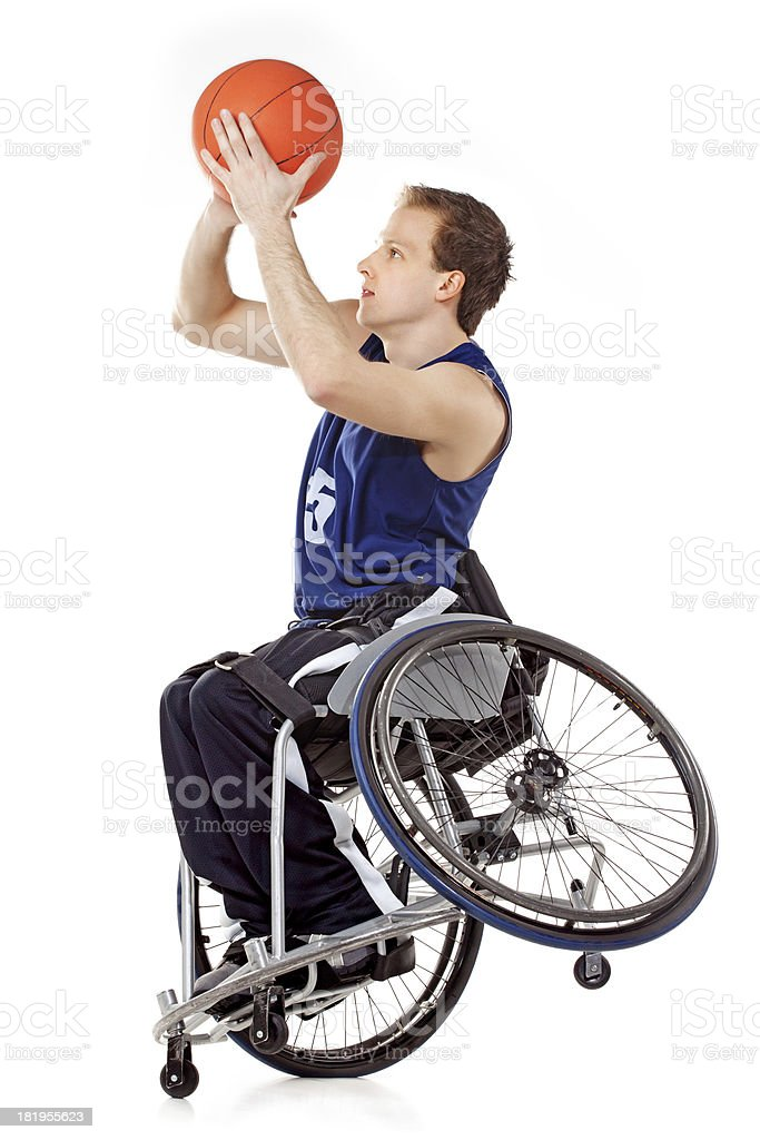 Wheelchair basketball player royalty-free stock photo