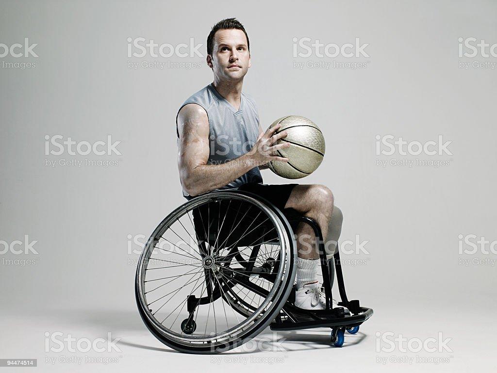 バスケットボール選手車椅子 ストックフォト